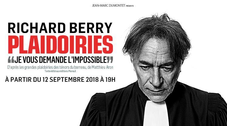 Théâtre : Robe noire sur rideaux de velours (Plaidoiries avec Richard Berry)